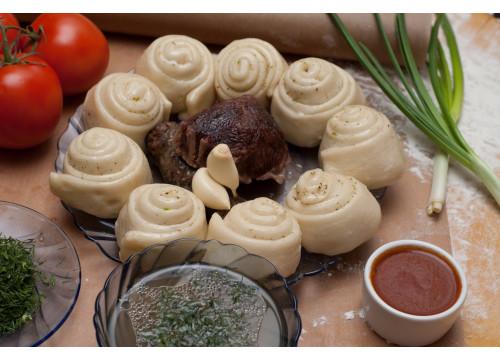Хинкал Даргинский с сушеной колбасой
