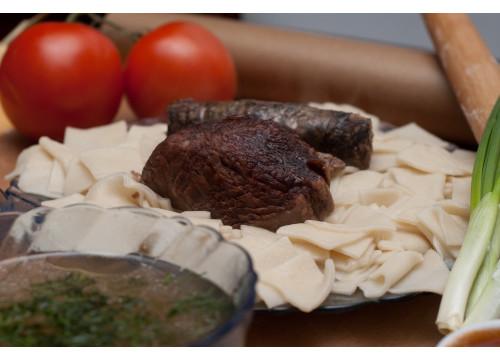 Хинкал Лезгинский (Кумыкский) с сушеной колбасой