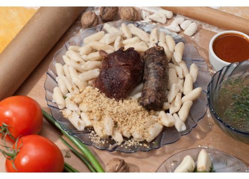 Хинкал Лакский с сушеной колбасой