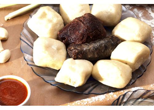 Хинкал Аварский с сушенной колбасой