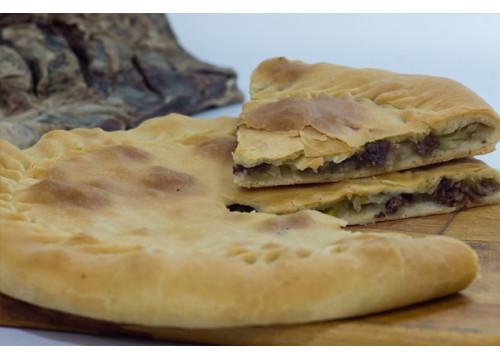 Чуду даргинское с сушеным мясом и картошкой (пирог)