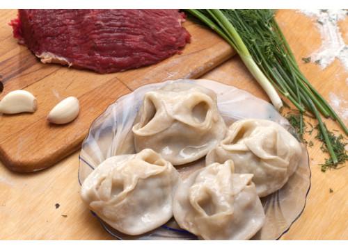 Манты с мясом